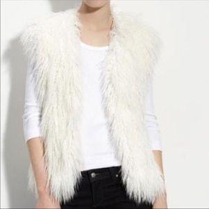 Never been worn faux fur vest